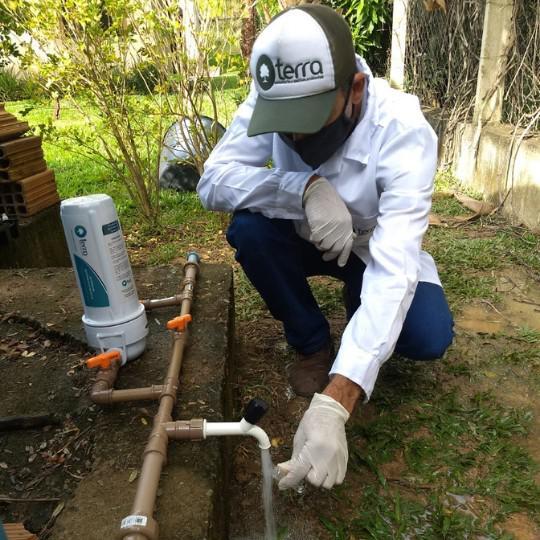 Exame agua de poço