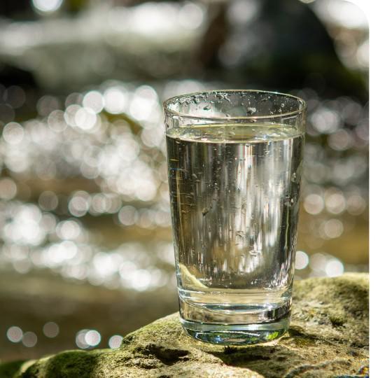 Exame de agua potavel